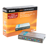 KVM Switch D-LINK (DKVM-4K) 4 Port PS/2