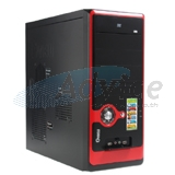 ATX Case GVIEW Focus C 5082 (Black-Red)