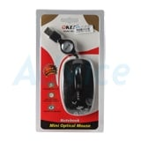 USB Optical Mouse OKER (MS-37) Black (เก็บสาย)
