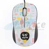 USB Optical Mouse 45 DEGREE (F-49) Blue/Black