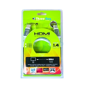 Cable HDMI (V.1.4) M/M (3M) GOLD THREEBOY