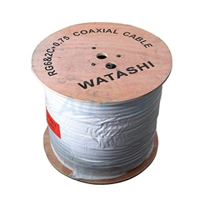 Cable 300M RG6/168 WATASHI Power Line#WCP073 (Black)