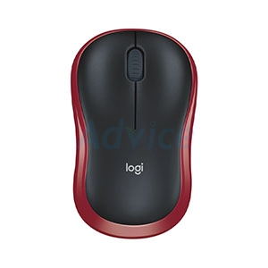 Wireless Optical Mouse LOGITECH (M-185R) Black/Red