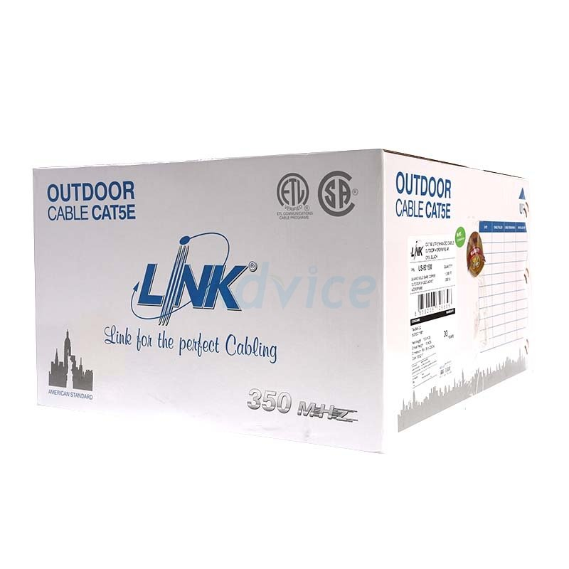 CAT5e UTP Cable (305m./Box) LINK Outdoor (US-9015M)