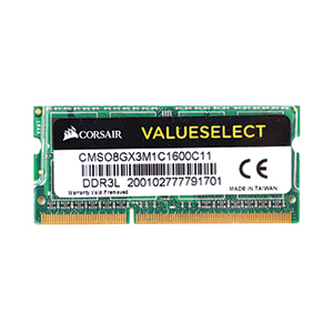 RAM DDR3L(1600, NB) 8GB CORSAIR VALUESELECT (CMSO8GX3M1C1600C11)