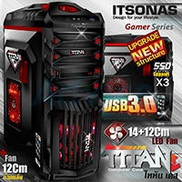 ATX Case (NP) ITSONAS Titan (Black)