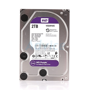 2 TB HDD CCTV WD Purple (5400RPM, 64MB, SATA-3, WD20PURZ)