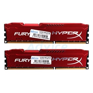 RAM DDR3(1600) 16GB (8GBX2) Kingston Hyper-X FURY (HX316C10FRK2/16)
