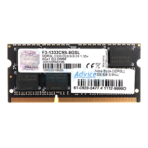 RAM DDR3L(1333  NB) 8GB G.SKILL 16 Chip