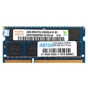 RAM DDR3(1333  NB) 4GB Hynix 16 Chip