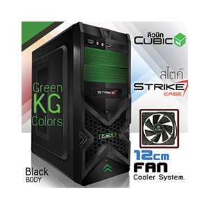 ATX Case (NP) CUBIC Strike (Black-Green)