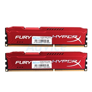 RAM DDR3(1600) 8GB (4GBX2) Kingston Hyper-X FURY (HX316C10FRK2/8)