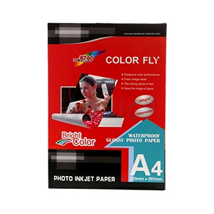 Photo Inkjet Glossy A4 160G. Color Fly (100/Pack)