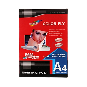 Photo Inkjet Glossy A4 180G. Color Fly (100/Pack)