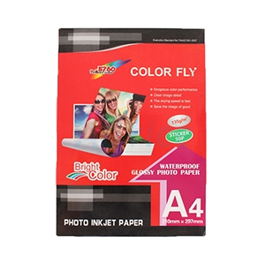 Color Fly  Photo Inkjet  Sticker A4 135G. (50/Pack)