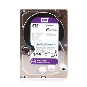 6 TB. SATA-III Western Purple (64MB.) For CCTV