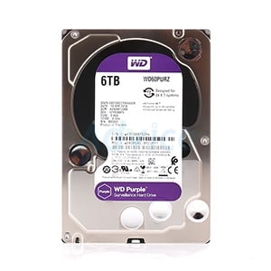 6 TB HDD CCTV WD Purple (5400RPM, 64MB, SATA-3, WD60PURZ)