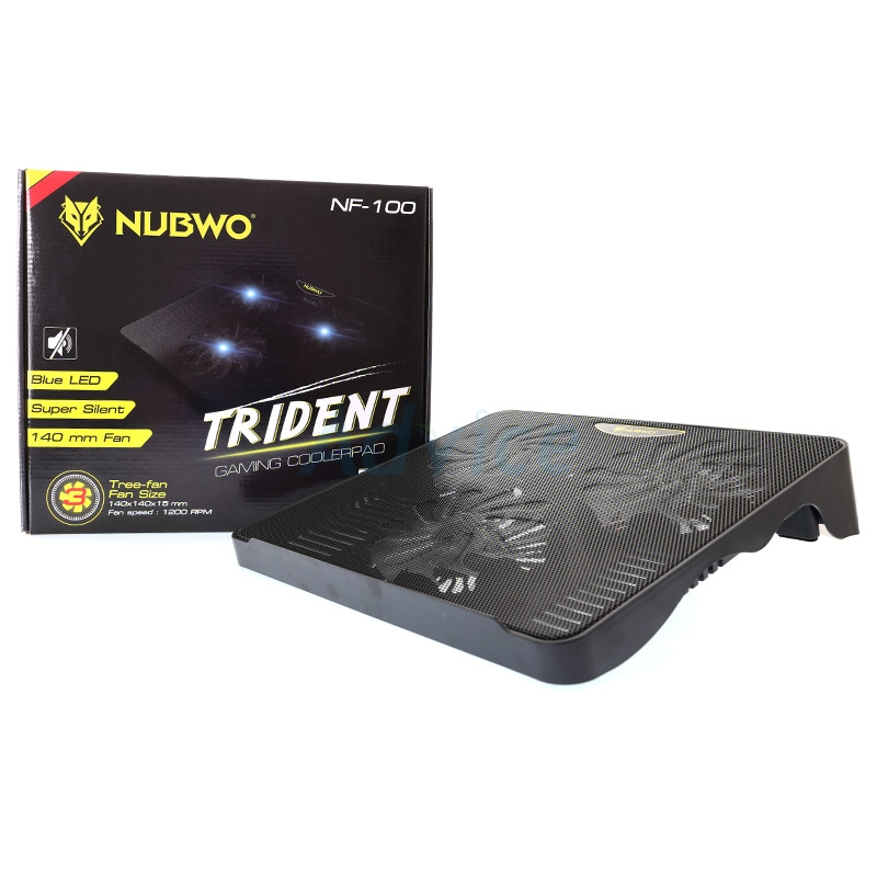 Cooler Pad NF100 Trident (3 Fan) Black NUBWO