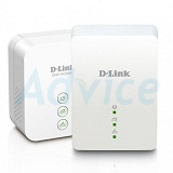 Powerline D-LINK (DHP-W221AV) AV200 N150 ชุดคู่