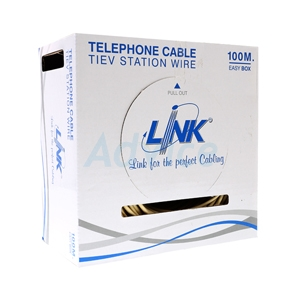 Cable Telephone (100m/Box) LINK (UL-1024) 4 CORE, 24 AWG
