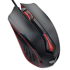 USB Optical Mouse MD-TECH (MD-61) Black/Red
