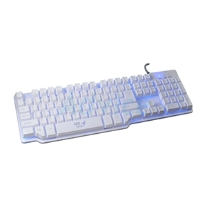 USB Multi Keyboard MD-TECH (K-1) Mechanical Style Keyboard White