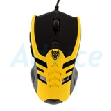 USB Optical Mouse NUBWO (NM-69 SKELETON) Black/Yellow