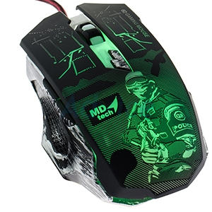 USB Optical Mouse  MD-TECH (BC-107) Gaming Black