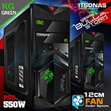 ATX Case (NP) ITSONAS Bullstorm (Black/Green)
