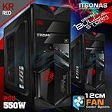 ATX Case (NP) ITSONAS Bullstorm (Black/Red)