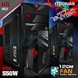 ATX Case ITSONAS Bullstorm (Black-Red)