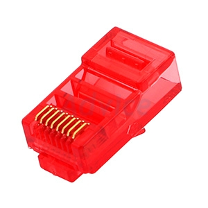 Plug RJ45 CAT5 LINK (US-1051-2) (10/Pack) Crystal Red