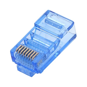 Plug RJ45 CAT5e LINK (US-1051-4) Crystal Blue