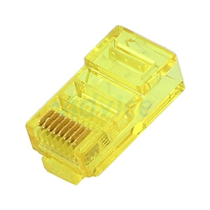 Plug RJ45 CAT5 LINK (US-1051-5) (10/Pack) Crystal Yellow Original