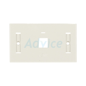 Face Plate หน้ากาก 1 ช่อง มีป้ายชื่อ LINK (US-2001WH) White Original