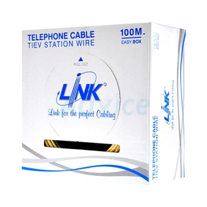 Cable Telephone (100m/Box) LINK (UL-1032) 2 CORE, 22 AWG