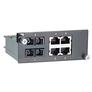 Fast Ethernet module with 2 single-mode 100BaseFX ports with SC connectors and 4 10/100BaseT(X) port
