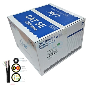 CAT5e UTP Cable (305m./Box) LINK (US-9015MW) Outdoor Drop wire & Power wire