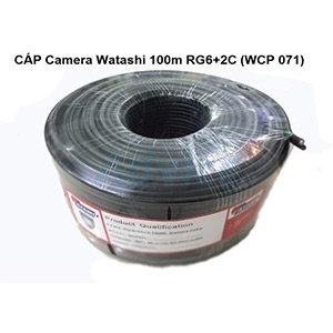 Cable 100M RG6/168 WATASHI Power Line#WCP071 (Black)