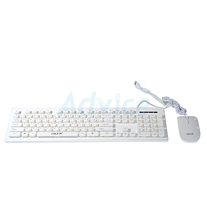 (2in1) USB  OKER (KM-2068) White