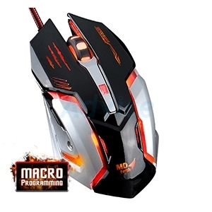 USB Optical Mouse MD-TECH (K900  Gaming) Black/Silver