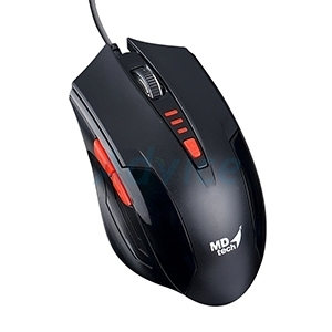 USB Optical Mouse MD-TECH (BC-85) Black/Red