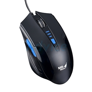 USB Optical Mouse MD-TECH (BC-85) Black/Blue