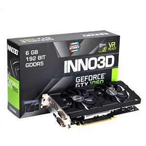 6GB GDDR5 GTX1060 INNO3D Twin X2
