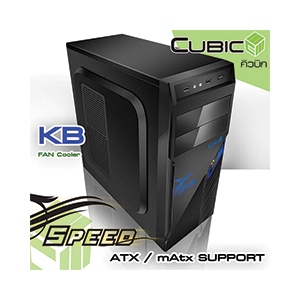 ATX Case (NP) CUBIC SPEED (Black-Blue)