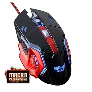 USB Optical Mouse MD-TECH (K901) Black/Red