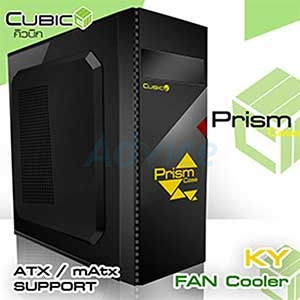 ATX Case (NP) CUBIC Prism (Black-Yellow)
