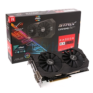 4GB GDDR5 AMD RX570 ASUS STRIX Gaming OC