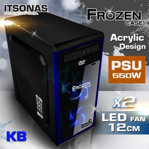 ATX Case ITSONAS FROZEN (Black-Blue)