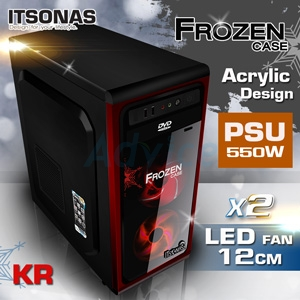 ATX Case ITSONAS FROZEN (Black-Red)